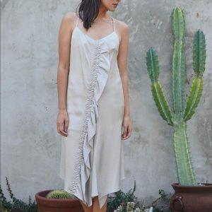 Maiyet Asymmetrical Silk Slip Dress